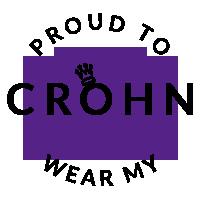 Proud to wear my Crohn